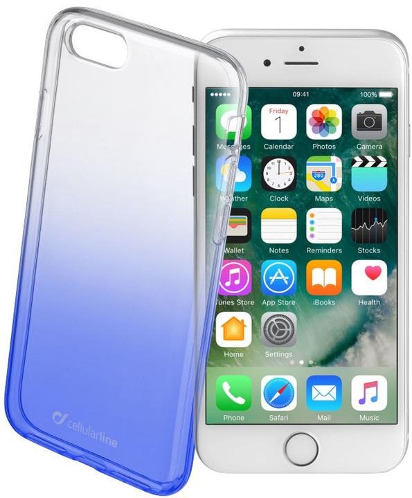 CellularLine SHADOW zadní kryt pro Apple iPhone 7, TPU, modrá