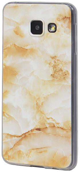 EPICO pružný plastový kryt pro Samsung Galaxy A3 (2016) MARBLE - gold