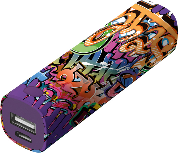 Trust Tag PowerStick 2600mAh zdroj, graffiti text