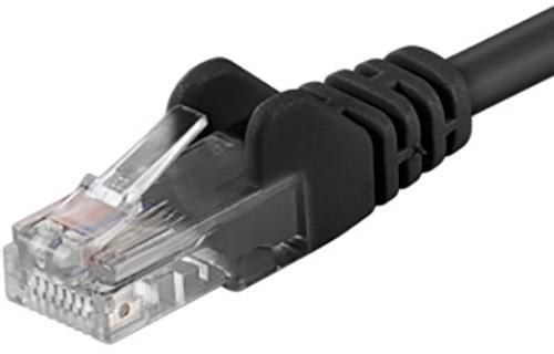 UTP síťový kabel kat.6 PC-HUB - 0,25m, černá