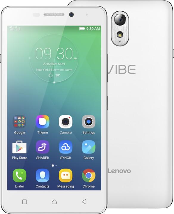 Lenovo Vibe P1m, LTE, bílá