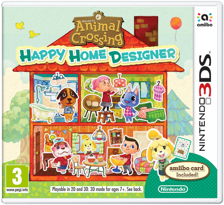 Animal Crossing: Happy Home Designer + karta Amiibo (3DS)