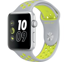 Apple Watch Nike + 42mm Silver Aluminium Case with Flat Silver/Volt Nike Sport Band - MNYQ2CN/A