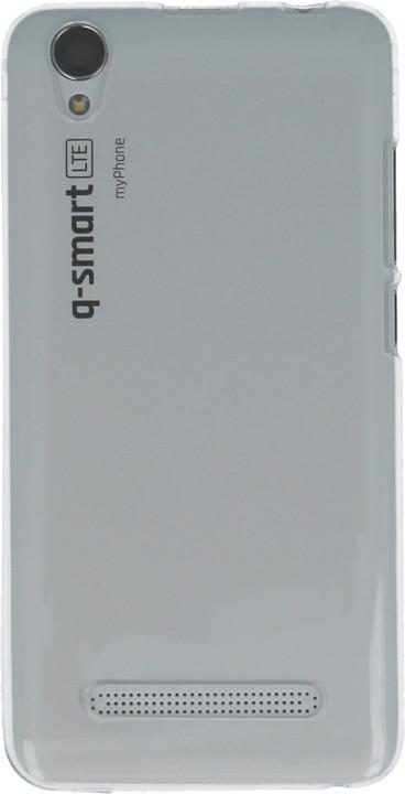 myPhone silikonové pouzdro pro Q-smart LTE, transparentní bílá