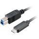 Akasa SuperSpeed+ USB 3.1, Type-C na Type-B, 100cm, černá