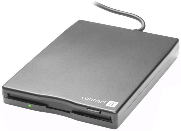 CONNECT IT FDD 1.44MB externí USB black (černá)