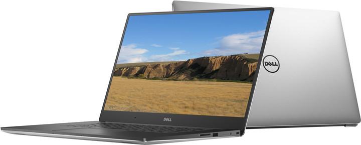 Dell XPS 15 (9550), stříbrná