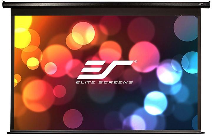 """Elite Screens plátno elektrické motorové 110"""" (279,4 cm)/ 16:9/ 137,2 x 243,8 cm/ Gain 1,1"""