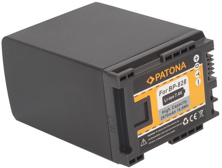 Patona baterie pro Canon BP-828 2670mAh Li-Ion