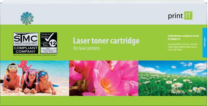 PRINT IT alternativní HP Q6001A CLJ2600 Cyan toner