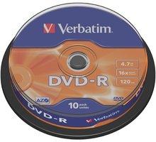 Verbatim DVD-R General 16x 4,7GB spindl 10ks - 43523