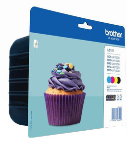Brother LC-123VALBP - multipack- BK+CMY