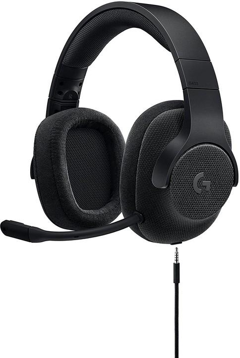 Logitech G433, černá