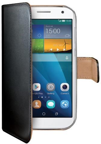 CELLY Wally pouzdro pro Huawei Ascend G7, PU kůže, černá