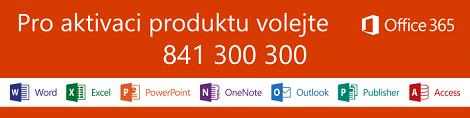 Pro aktivaci produktu volejte 841 300 300