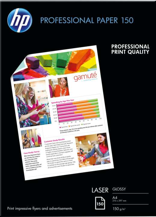 HP Professional Laser Photo Paper, A4, 150 g/m2, 150 listů