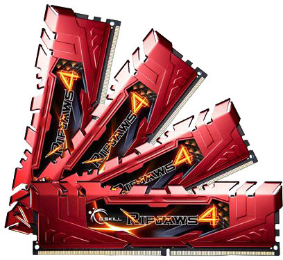 G.SKill Ripjaws4 32GB (4x8GB) DDR4 2666 CL15, červená