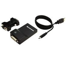 Lenovo USB 3.0 to DVI/VGA Monitor Adapter - 0B47072