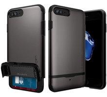 Spigen Flip Armor pro iPhone 7+, gunmetal - 043CS20776