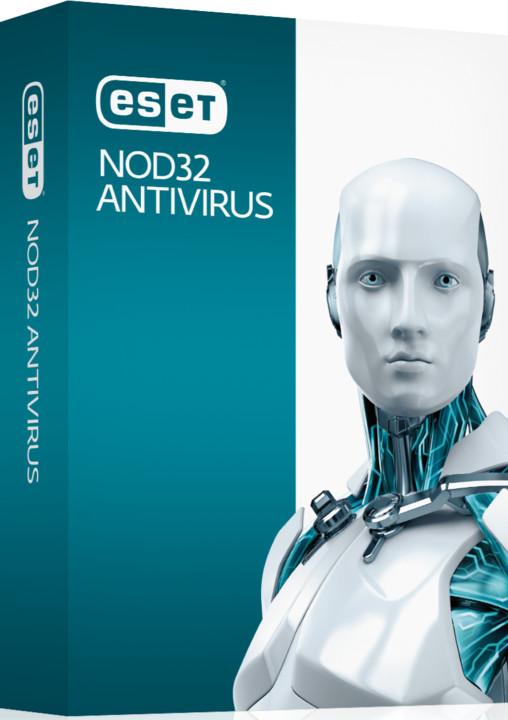 ESET NOD32 Antivirus pro 3 PC na 2 roky, prodloužení licence