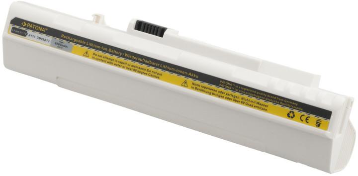 Patona baterie pro ACER, ASPIRE ONE 6600mAh Li-Ion 11,1V bílá