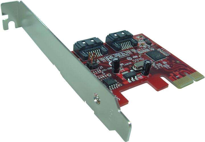 Kouwell PE-115H PCI karta 2x SATA III