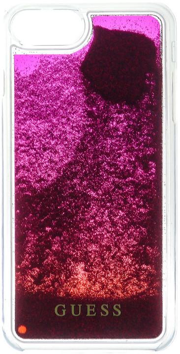 Guess Liquid Glitter Hard Pink Degrade pouzdro pro iPhone 7