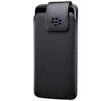BlackBerry pouzdro kožené pro BlackBerry DTEK50, klip s otočným čepem, černá - ACC-63005-001