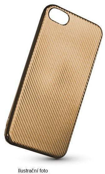 Forever silikonové (TPU) pouzdro pro Apple iPhone 5/5S, carbon/zlatá