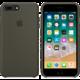 Apple silikonový kryt na iPhone 8 Plus / 7 Plus, tmavě olivová