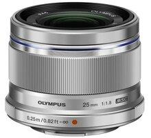Olympus ES-M2518 M.ZUIKO DIGITAL 25mm, F1.8, stříbrná - V311060SE000