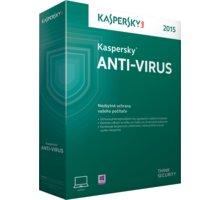 Kaspersky Anti-Virus 2017 CZ, 1PC, 2 roky - KL1171XCADS