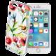 Cellularline STYLE průhledné gelové pouzdro pro iPhone 6/6S, motiv FLOWERS