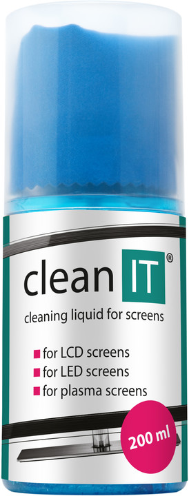 Clean IT na obrazovky s utěrkou ve víčku, 200ml
