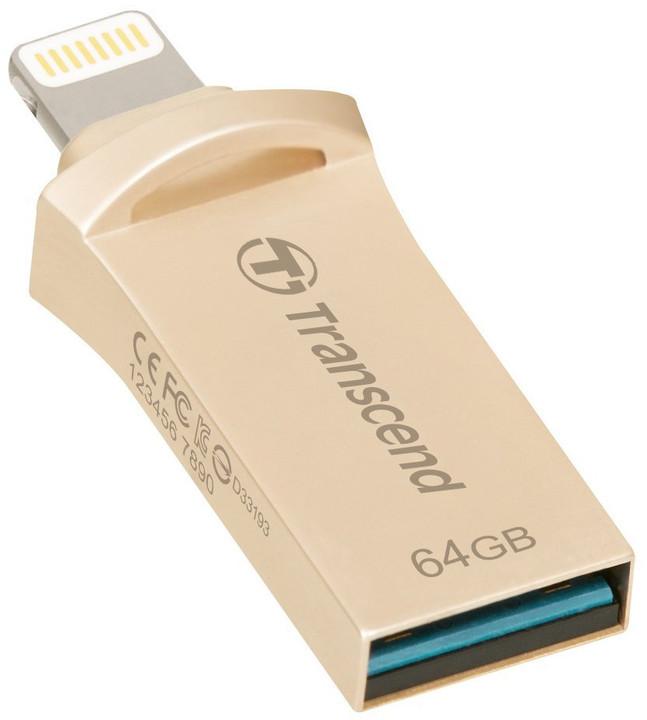 Transcend JetDrive Go 500 - 64GB, zlatá