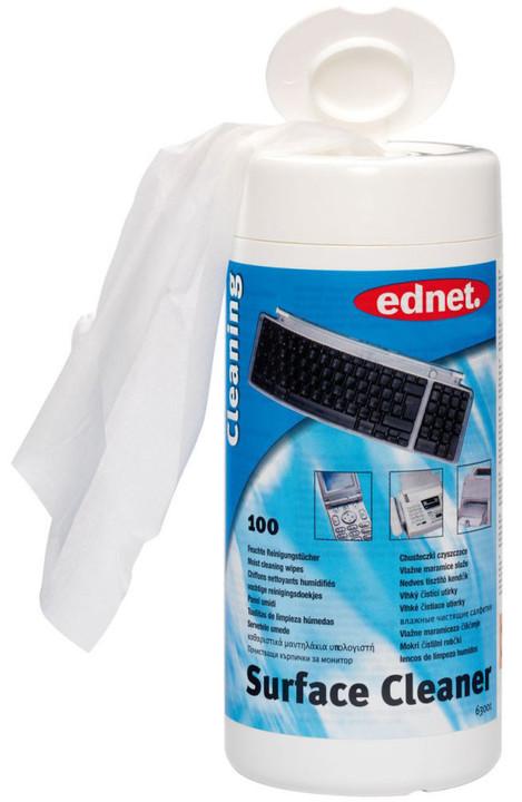 Ednet čisticí úterky pro monitory a plastové povrchy anti-statické, 100ks