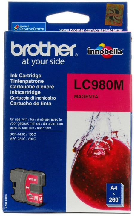 Brother LC-980M, magneta