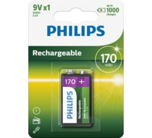 Philips 9V Ni-MH 170mAh - 9VB1A17/10