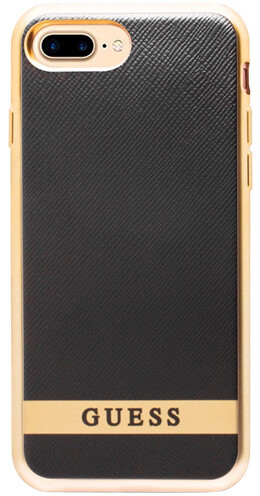 Guess Classic Soft TPU Pouzdro Black/Gold pro iPhone 7 Plus