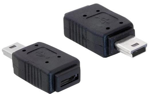 DeLock USB mini samec na USB micro B samice