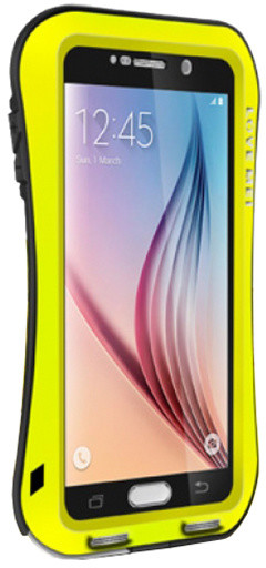Love Mei Case Small Waist Upgrade Version for GALAXY S6 Yellow