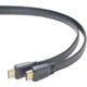 PremiumCord HDMI High Speed + Ethernet plochý kabel, zlacené konektory, 2m