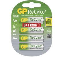 GP Recyko+ nabíjecí AA 2000 NiMH, 4ks (3+1) - 1033214075