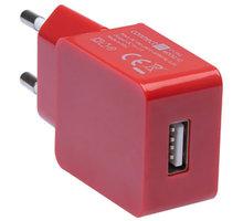CONNECT IT nabíjecí adaptér 1xUSB port 1 A, červená - CI-594