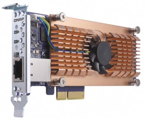 QNAP QM2-2S10G1T - Duální SSD M.2 2280 pro rozhraní PCIe a jednoportová rozšiřující karta sítě 10GbE