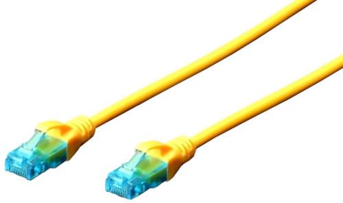 Digitus Ecoline Patch Cable, UTP, CAT 5e, AWG 26/7, žlutý 1m