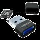 ADATA Micro SDHC 8GB Class 4 + USB čtečka, černá