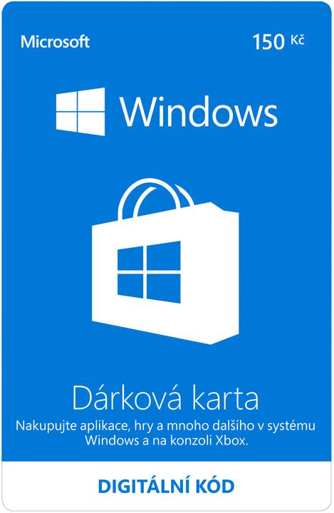 Microsoft Windows Store Gift Card 150CZK - elektronicky