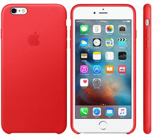 Apple iPhone 6S Plus Leather Case, RED - mkxg2zm/a