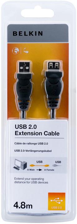 Belkin prodlužovací USB 2.0 kabel A-A, řada standard, 4.8 m